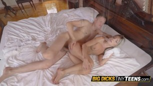 Graceful fuck with a small blonde pussy