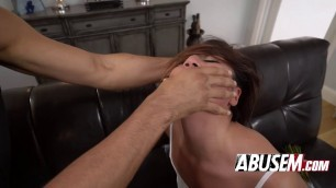 Young Brunette Lexy Bandera Gags On Dick And Gets Fucked Hard In Ass