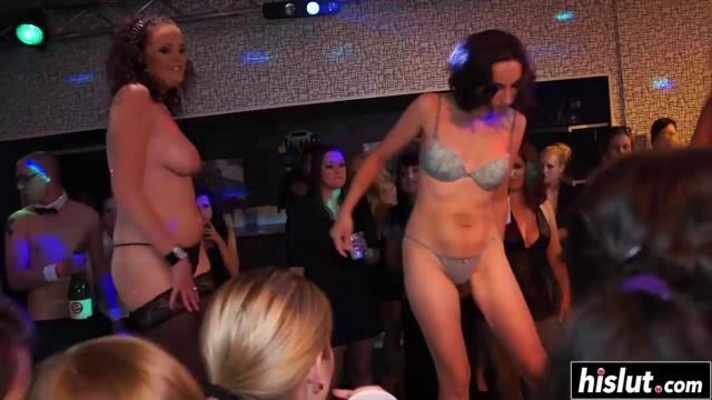 Beautiful babes get nailed at a party