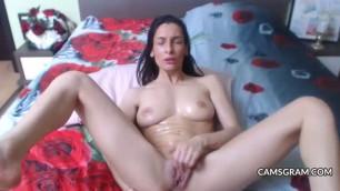 Shameless Anal Dildo For Cock Hungry Shaved Brunette
