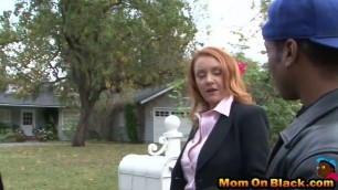 Kinky milf banged by horny black guy