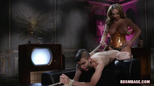 Busty Whore Fucks Her Bf in the Ass