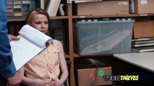 Glamorous brunette deepthroating and riding at the office