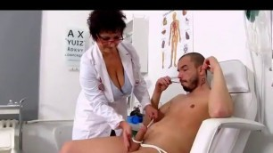 Mature Doctor Examines A Dick
