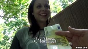 Antonia Sainz Petite Brunette Sucks Dick For Cash
