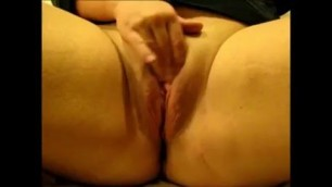 Rubbing my clit faster and faster